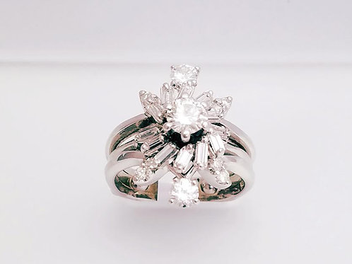 14k White Gold & Diamond Ring Se ( included Diamond Stone)
