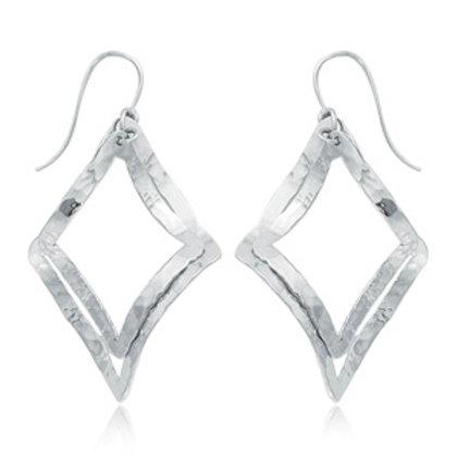Sterling Silver Hammered Lantern Earrings