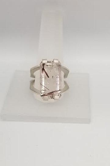 Sterling Silver & Quartz Custom Designed Ring