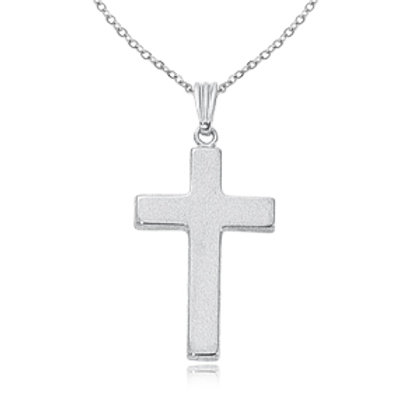 Sterling Silver Cross Pendant (chain sold separately)