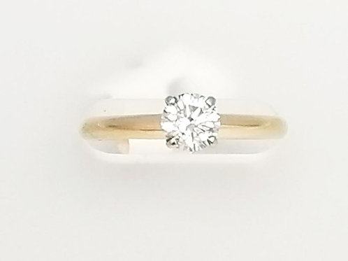 14k Yellow Gold Solitare Diamond Ring