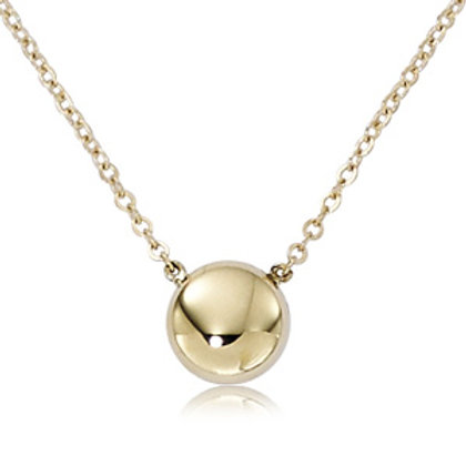 14k Yellow Gold Pendant with Chain