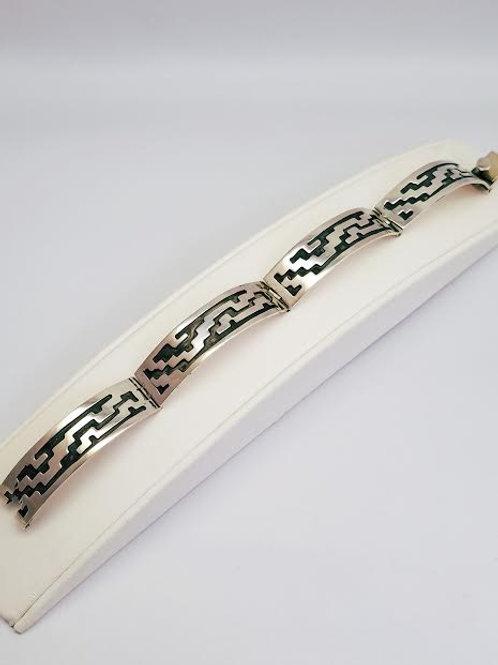 Sterling Silver Link Bangle Bracelet