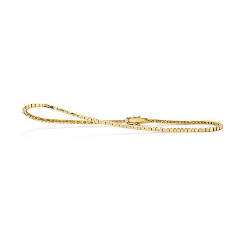 14k Yellow Gold & Diamond Bracelet