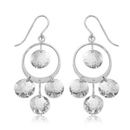 Sterling Silver Swing Discs Earrings