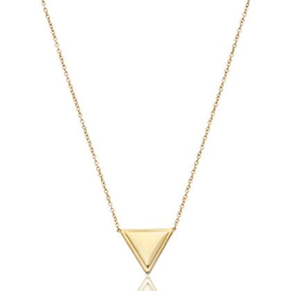 14k Yellow Gold Triangular Necklace