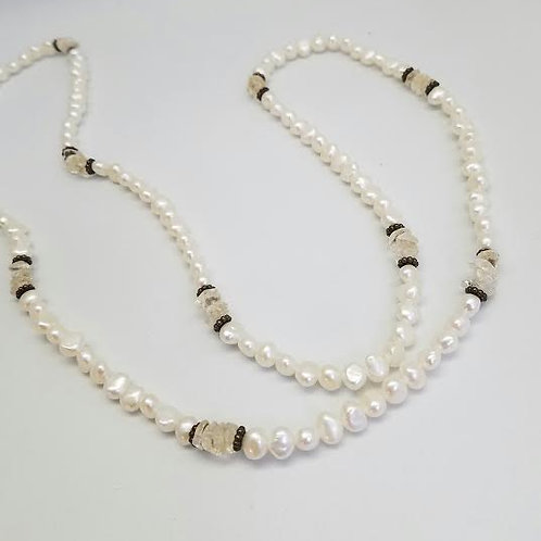 Sterling Silver, Fresh Water Pearls, Tumbled Nuggets and Silver Beads