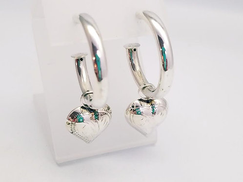 Sterling Silver Earrings with Removable Charms