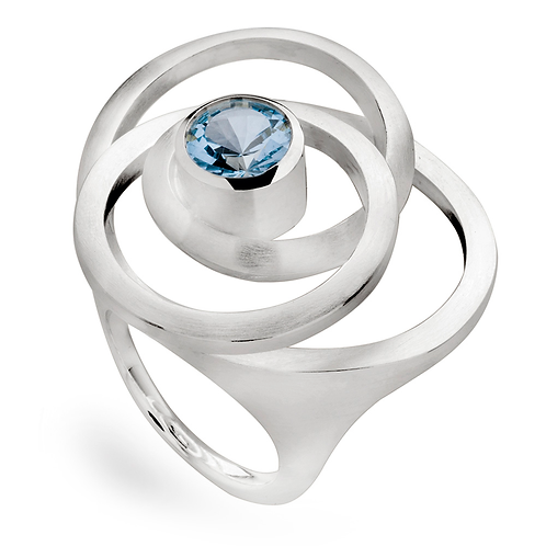 Sterling Silver & Blue Topaz Ring