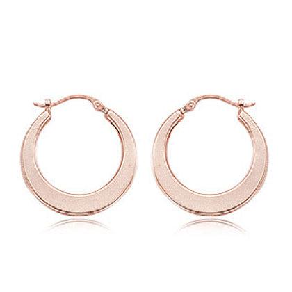14k Rose Gold Flat Hoop Earrings