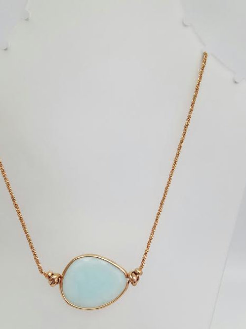 Rose Gold Plated & Amazonite Necklace