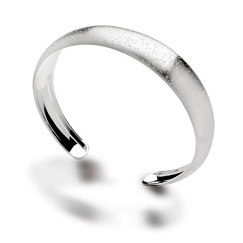 Sterling Silver & Diamond (Dust) Cuff Bracelet
