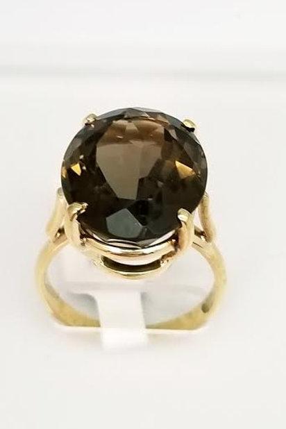 18k Yellow Gold & Smokey Quartz Ring