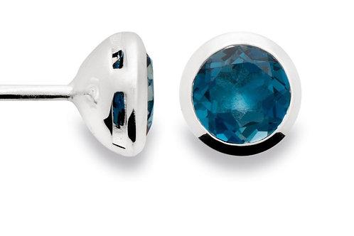 Sterling Silver & Blue Topaz Earrings