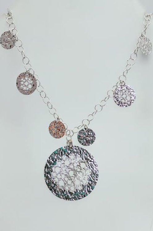 Sterling Silver Multi-Disk Necklace