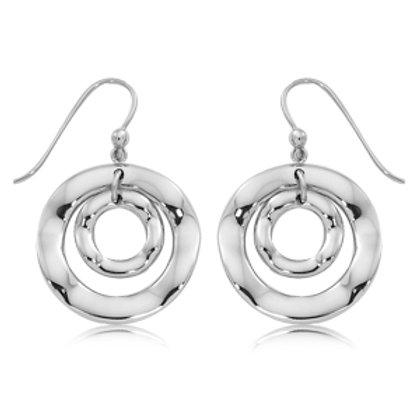 Sterling Silver  Wave Design Earrings