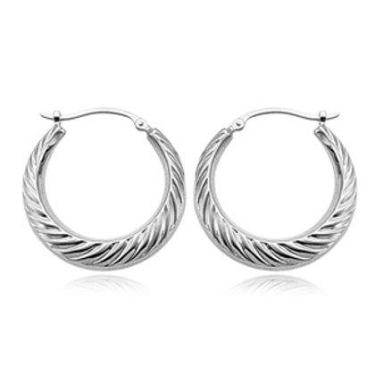 Sterling Silver Swirl Hoop Earrings