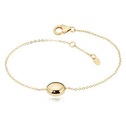 14k Yellow Gold  Single Bead Bracelet