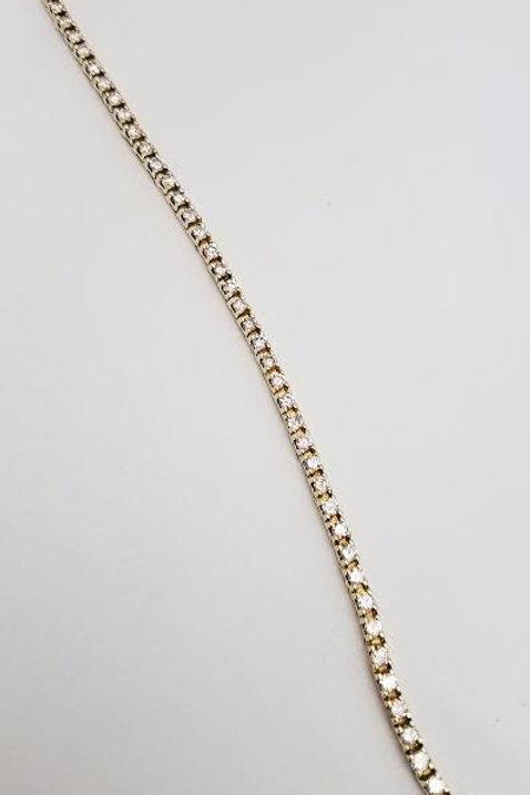 "14k Yellow Gold & Diamond ""Tennis"" Bracelet"