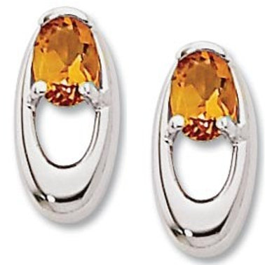 Sterling Silver & Citrine Earrings (Also available in Amethyst & Peridot)