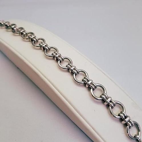 Sterling Silver Link (Charm) Bracelet
