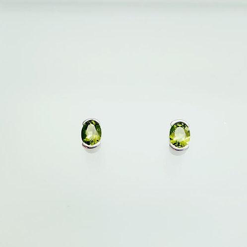 Sterling Silver & Peridot Earrings