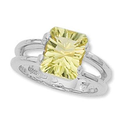 Sterling Silver & Green Amethyst Ring