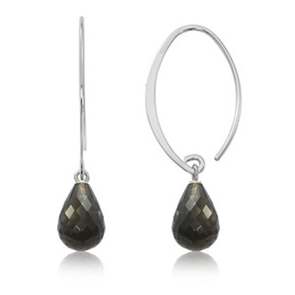 Sterling Silver & Smokey Topaz Earrings