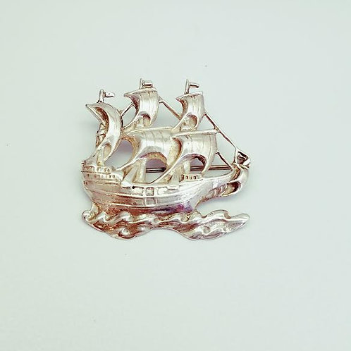 Sterling Silver Sailboat Brooch/Pin