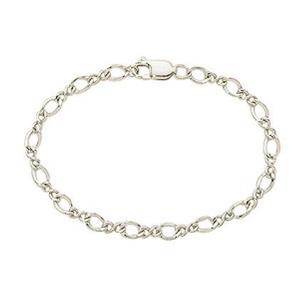 Sterling Silver Figure Eight Style  Bracelet