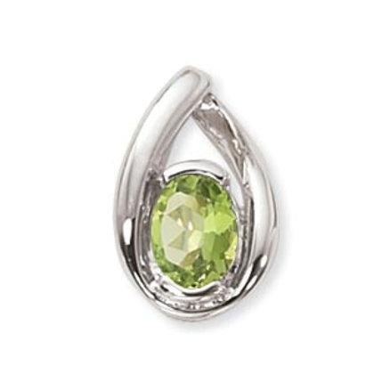 Sterling Silver & Green Peridot Pendan