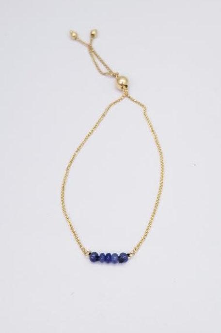 14k Yellow Gold & Sapphire Custom Designed Bracelet