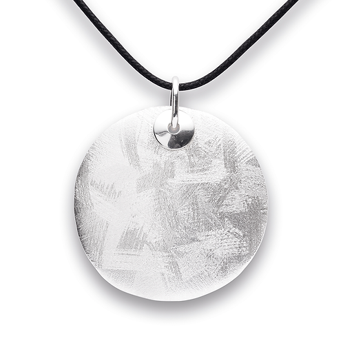 Sterling Silver Disk Pendant (chains sold separately)