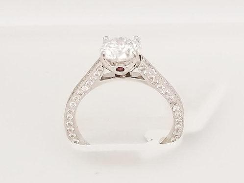 Platinum, Diamond & Ruby Ring