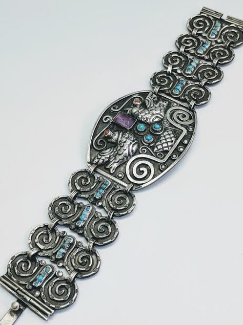 Sterling Silver & Color Stone Bracelet