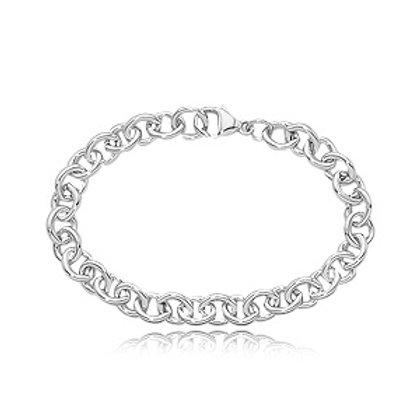 Sterling Silver Rolo Link Bracelet