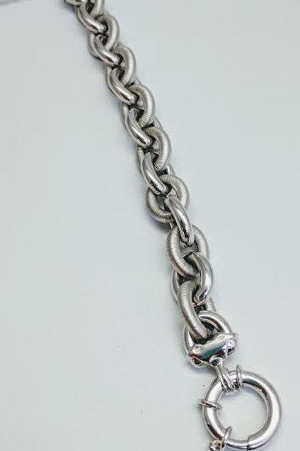 Sterling Silver Rolo Style Bracelet