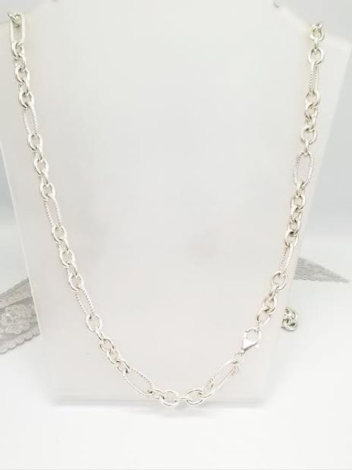 Sterling Silver Link Style Necklace