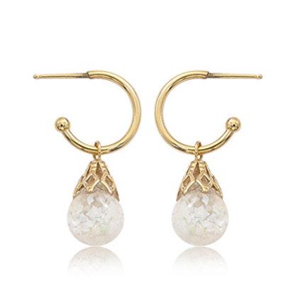 14k Yellow Gold & Opal Earrings
