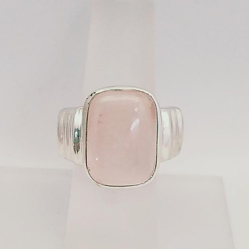 Sterling Silver & Rose Quartz Ring