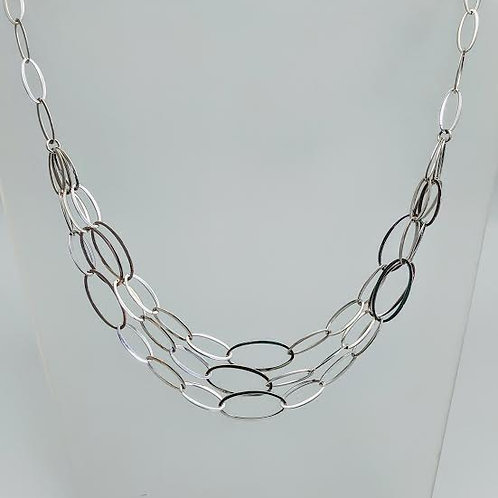 Sterling Silver Layered Link Necklace