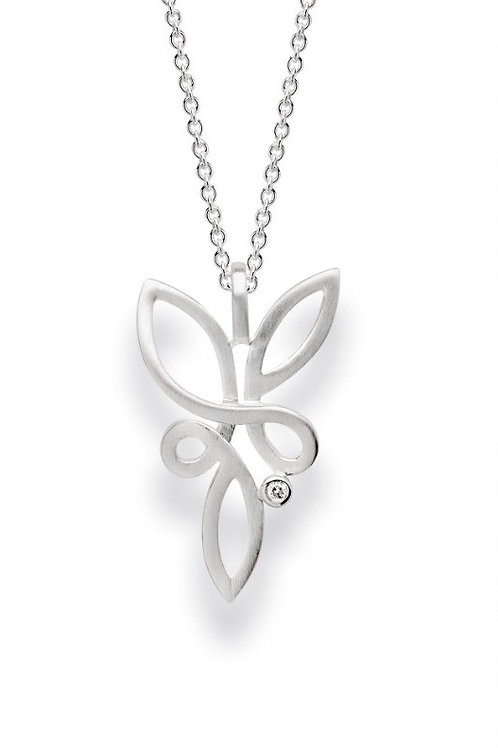 Sterling Silver & Diamond Pendant