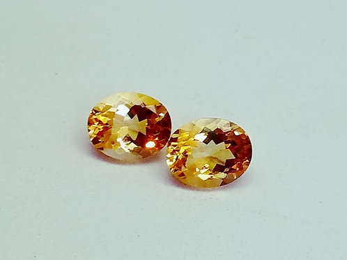 2-Citrine Oval Loose Stones-  6.82cttw/ a Matching pair