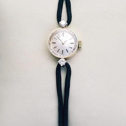 14k White Gold & Diamond Omega Watch