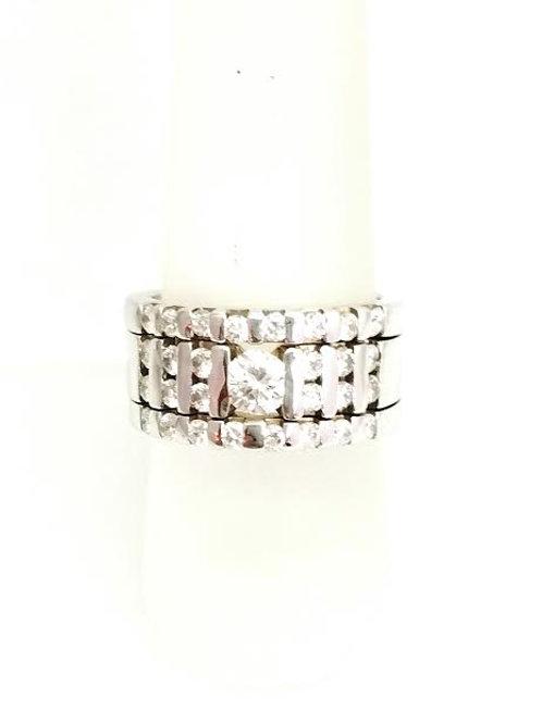 14k White Gold & Diamond Band style Ring