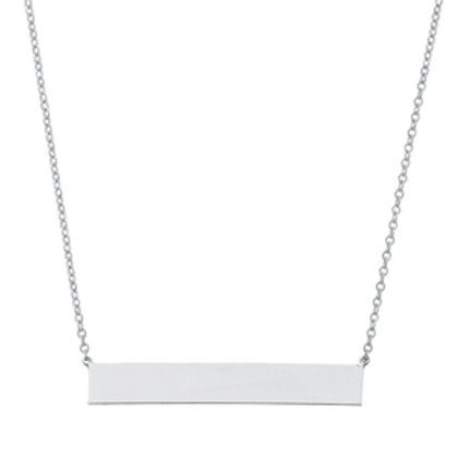 Sterling Silver Bar Necklace (Chain Included)