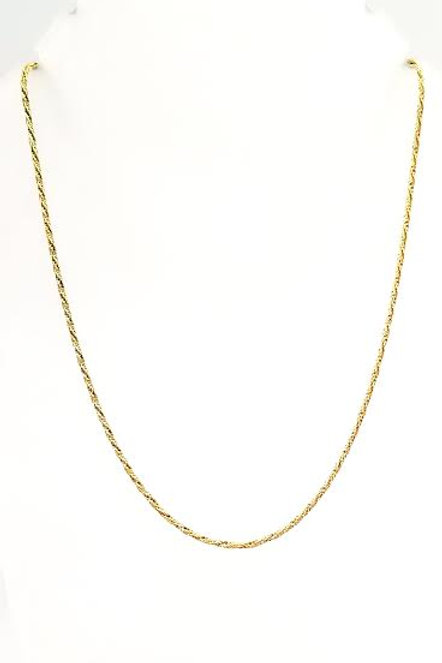 14k Yellow Gold Twisted Rope Chain
