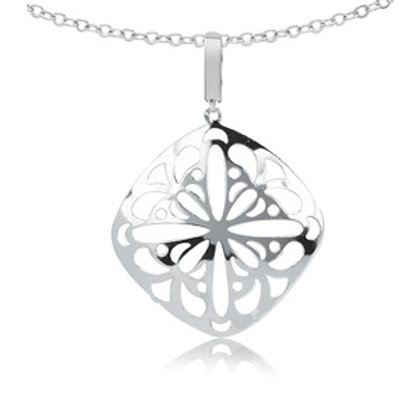 Sterling Silver Lace Pendant / Necklace with Chain