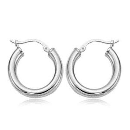Sterling Silver Tube Hoop Earrings