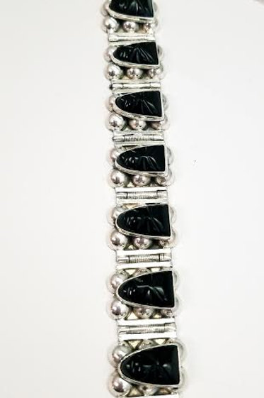 Sterling Silver & Black Onyx Bracelet